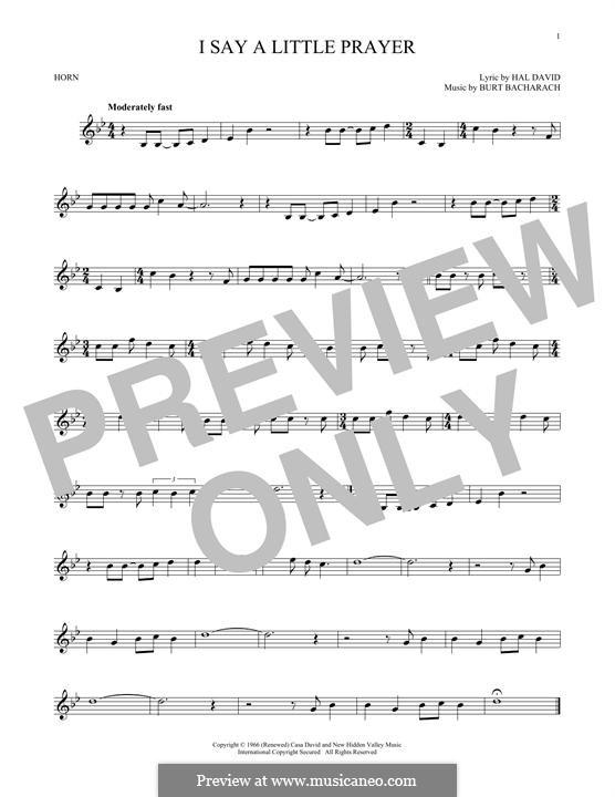 I Say a Little Prayer: For horn by Burt Bacharach