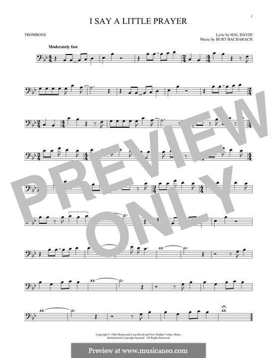 I Say a Little Prayer: For trombone by Burt Bacharach