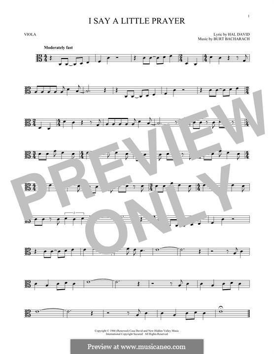 I Say a Little Prayer: For viola by Burt Bacharach