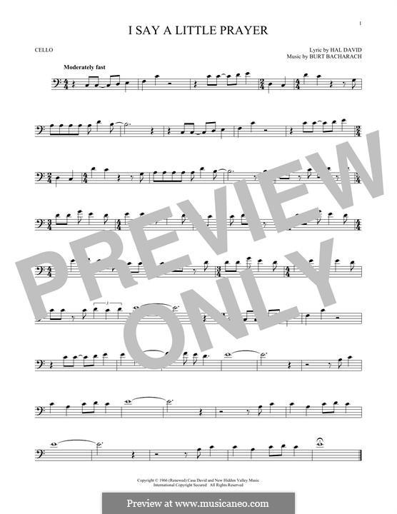 I Say a Little Prayer: For cello by Burt Bacharach