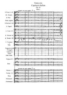 Italian Capriccio, TH 47 Op.45: Full score by Pyotr Tchaikovsky