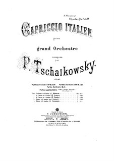 Italian Capriccio, TH 47 Op.45: For two pianos by Pyotr Tchaikovsky