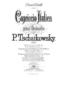 Italian Capriccio, TH 47 Op.45: For piano four hands by Pyotr Tchaikovsky