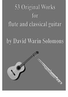 53 Original works for flute and classical guitar: 53 Original works for flute and classical guitar by David W Solomons