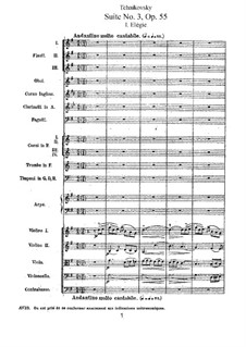 Suite No.3 in G Major, TH 33 Op.55: Movement I by Pyotr Tchaikovsky