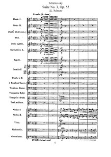 Suite No.3 in G Major, TH 33 Op.55: Movement III by Pyotr Tchaikovsky