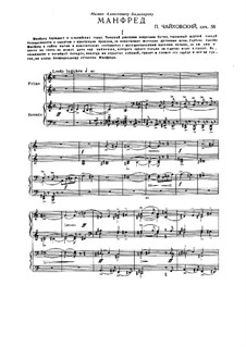 Manfred Symphony, TH 28 Op.58: For two pianos four hands by Pyotr Tchaikovsky