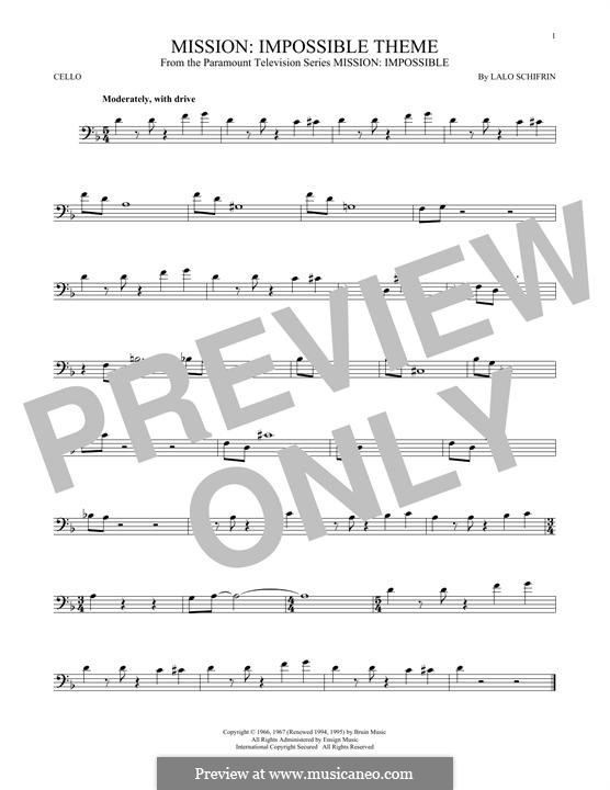 Mission: Impossible Theme: For cello by Lalo Schifrin