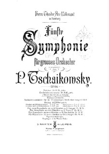 Complete Movements: For two pianos eight hands – piano I part by Pyotr Tchaikovsky