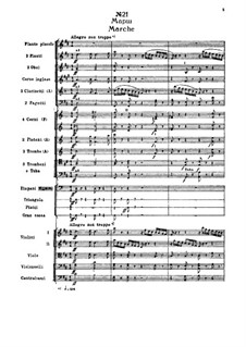 Fragments: Act III, No.21 Marche by Pyotr Tchaikovsky