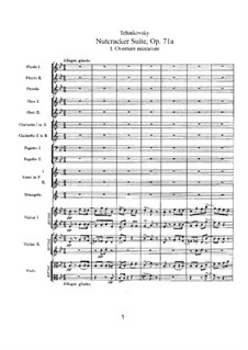 No.1 Miniature Overture : Full score by Pyotr Tchaikovsky