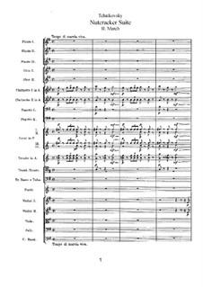 No.2 March: Full score by Pyotr Tchaikovsky