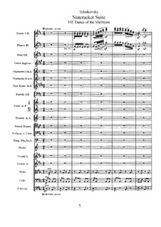 No.7 Dance of the Mirlitons: Full score by Pyotr Tchaikovsky