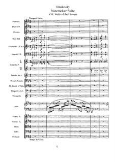 No.8 Waltz of the Flowers: Full score by Pyotr Tchaikovsky
