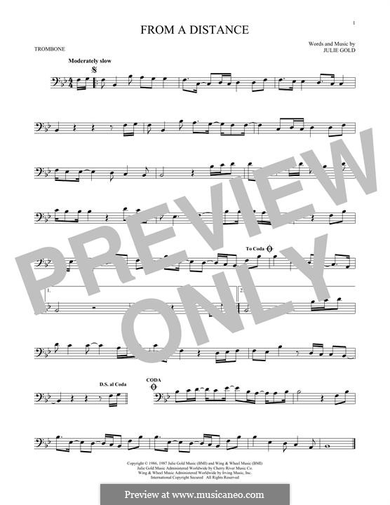 From a Distance: For trombone by Julie Gold