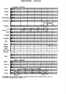 The Storm. Overture, TH 36 Op.76: Full score by Pyotr Tchaikovsky