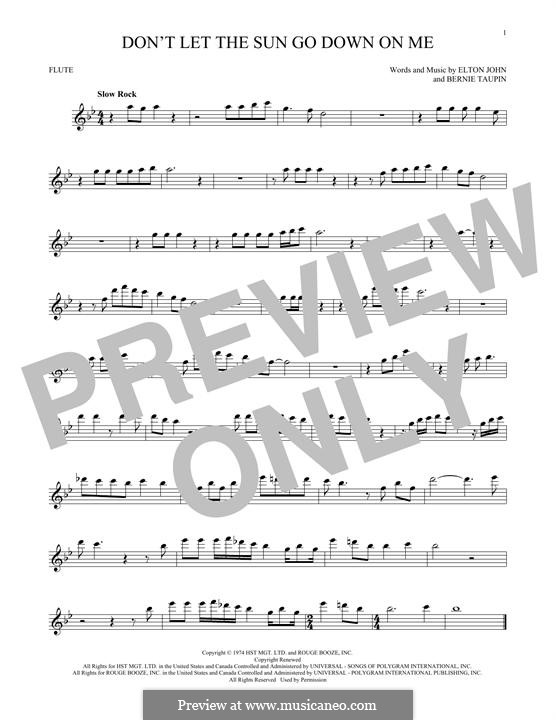 Don't Let the Sun Go Down on Me: For flute by Elton John