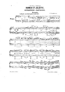 Complete Overture: For piano four hands by Pyotr Tchaikovsky