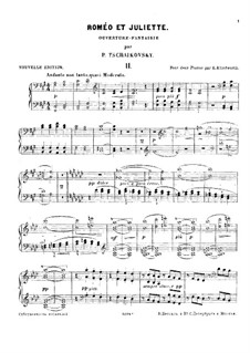 Complete Overture: For two pianos four hands – piano II part by Pyotr Tchaikovsky