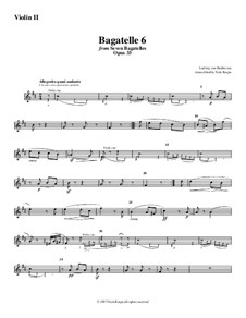 Bagatelles, Op.33: Bagatelle No.6, for string orchestra - violin 2 part by Ludwig van Beethoven