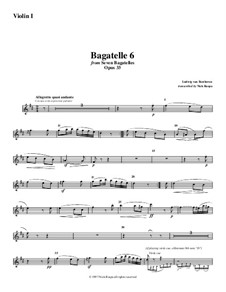 Bagatelles, Op.33: Bagatelle No.6, for string orchestra - violin 1 part by Ludwig van Beethoven