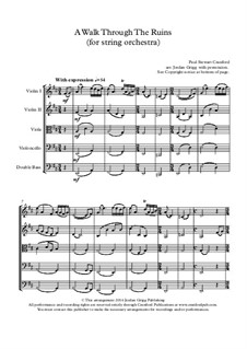 A Walk Through The Ruins: For string orchestra by Paul Cranford