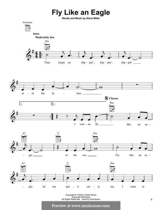 Fly Like an Eagle (Steve Miller Band): For ukulele by Steve Miller