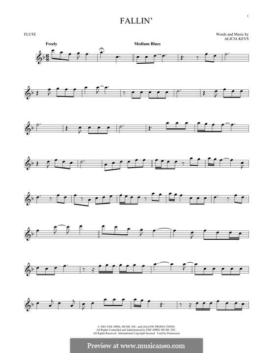 Fallin': For flute by Alicia Keys