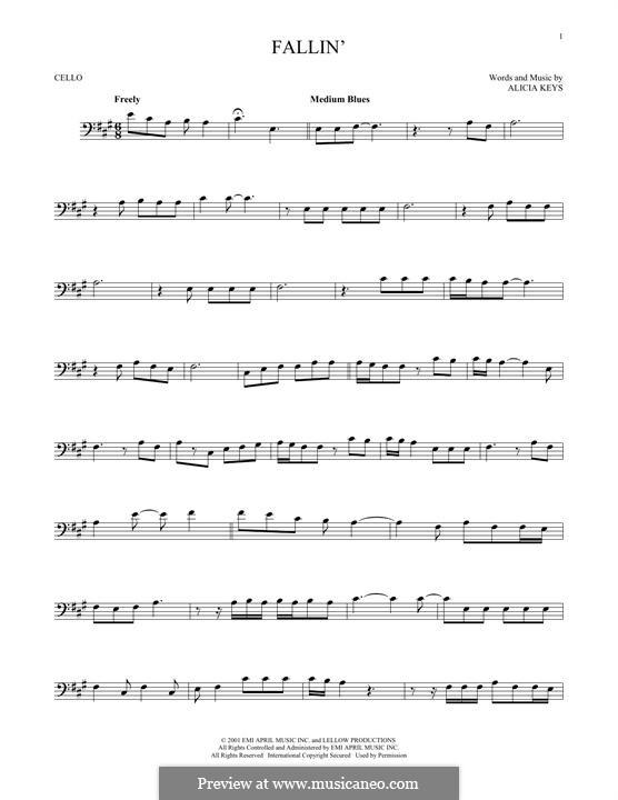 Fallin': For cello by Alicia Keys