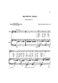 Four Romances, Op.15: No.4 Modersorg (Mother's Grief) by Edvard Grieg