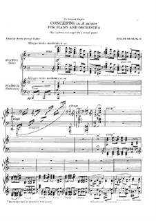 Piano Concerto in A Minor, Op.16: Movement I. Version for Two Pianos Four Hands by Edvard Grieg