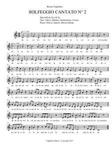 Solfeggio Cantato No.2: Solfeggio Cantato No.2 by Renato Tagliabue