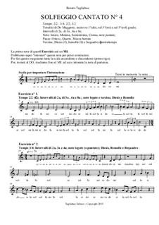 Solfeggio Cantato No.4: Solfeggio Cantato No.4 by Renato Tagliabue