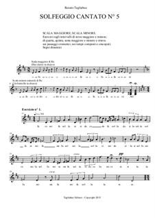 Solfeggio Cantato No.5: Solfeggio Cantato No.5 by Renato Tagliabue