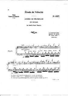 Première année. Suisse, S.160: No.4 Au bord d'une source by Franz Liszt
