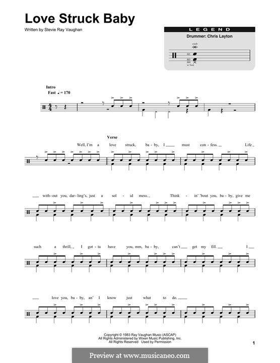 Love Struck Baby: Percussion by Stevie Ray Vaughan