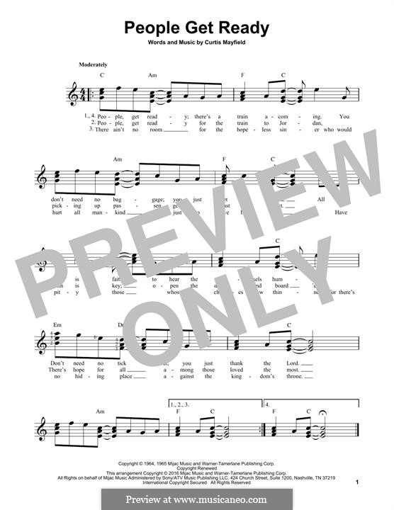 People Get Ready (Eva Cassidy): For guitar with tab by Curtis Mayfield
