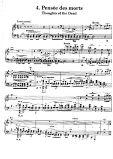 Harmonies poétiques et religieuses, S.173: No.4 In Memory of the Dead by Franz Liszt