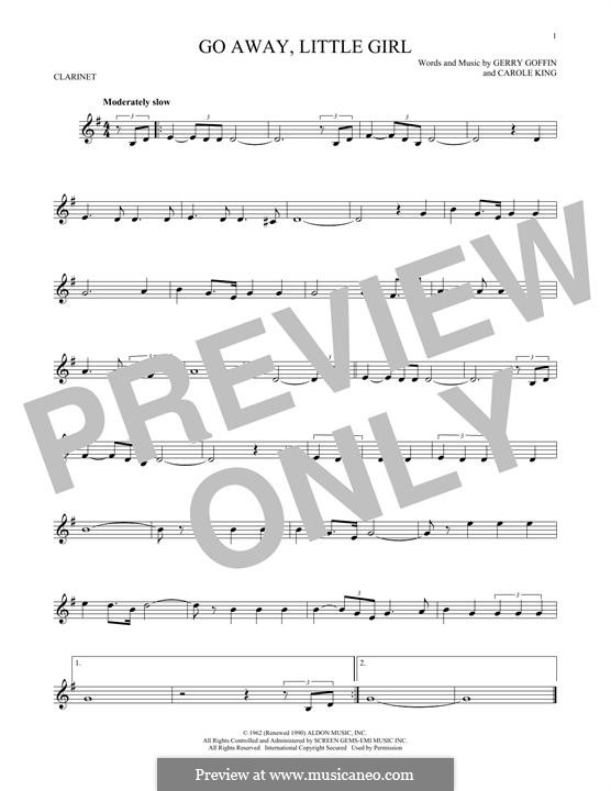 Go Away, Little Girl: For clarinet by Carole King, Gerry Goffin