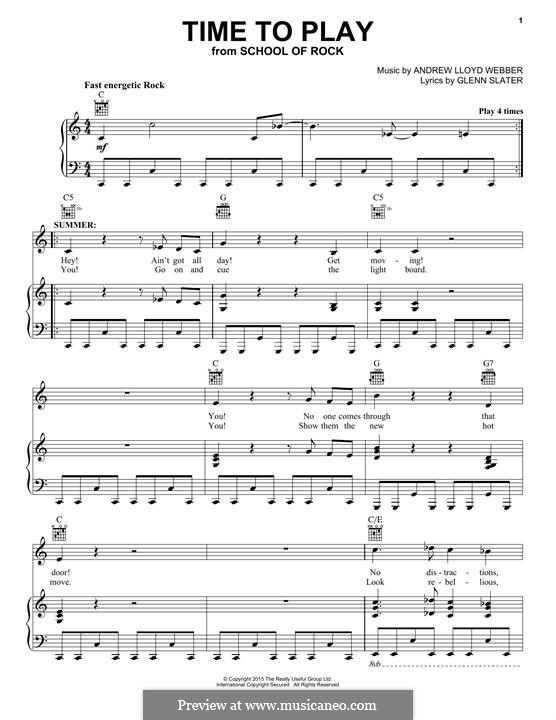 Time to Play: For voice and piano (or guitar) by Andrew Lloyd Webber