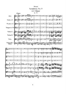 Symphony No.9 in C Major, K.73: Symphony No.9 in C Major by Wolfgang Amadeus Mozart
