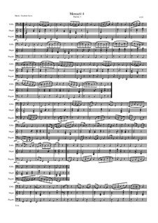 Menuett 4: Für Cello, Fagot und Orgel by Friedrich Gross