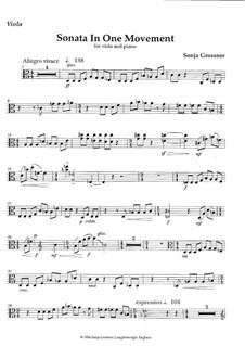 Sonata in one movement for viola & piano: Sonata in one movement for viola & piano by Sonja Grossner