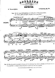 Adelaide, Op.46: Piano score by Ludwig van Beethoven