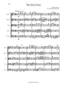 The Silver Swan: For string quintet by Orlando Gibbons