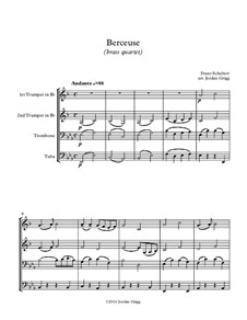 Wiegenlied (Cradle Song), D.498 Op.98 No.2: For brass quartet by Franz Schubert