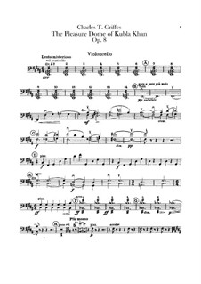 The Pleasure Dome of Kubla Khan, Op.8: Cellos part by Charles Tomlinson Griffes