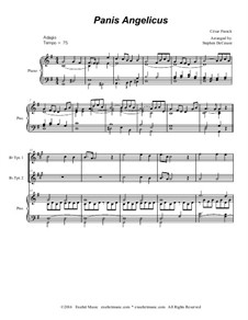 Panis Angelicus (O Lord Most Holy): For two Bb-trumpets and piano (with accompaniment track) by César Franck