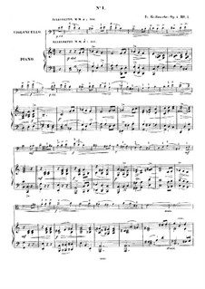Five Pieces for Cello and Piano, Op.4: No.1-3 by Friedrich Grützmacher