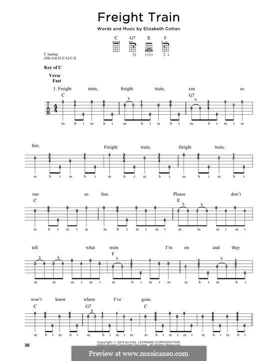 Freight Train: For banjo by Elizabeth Cotten